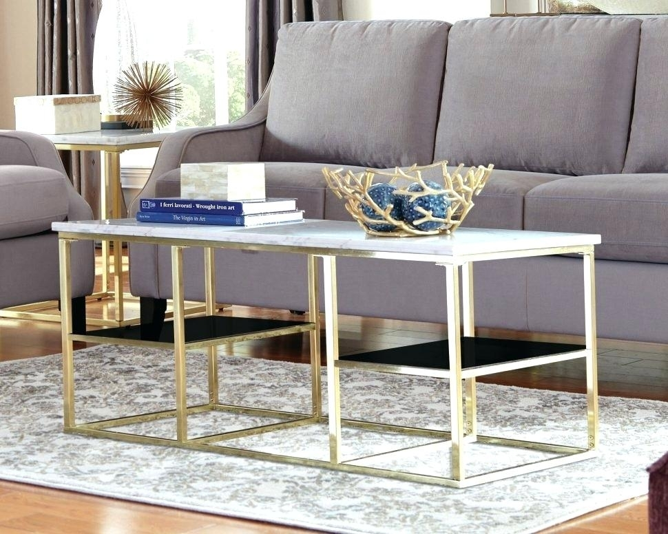 Cb2 Marble Coffee Table With Slab Large Marble Coffee Tables With Brass Base (View 36 of 40)
