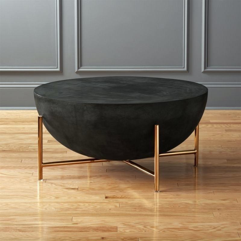 Cb2 Shroom Coffee Table Brass Coffee Table Cb2 Shroom Side Table Throughout Shroom Large Coffee Tables (Image 5 of 40)