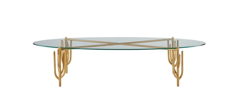 Cb2 X Fred Segal Pool Party Collection For Outdoor + Indoor Fun With Regard To Cacti Brass Coffee Tables (Image 16 of 40)
