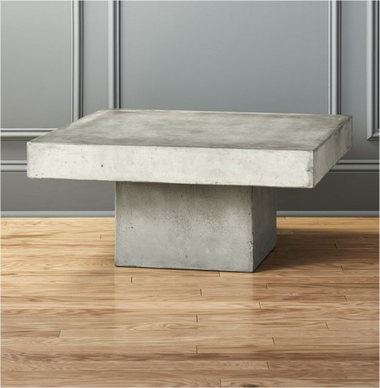 Cement Tables | Cb2 Intended For Jelly Bean Coffee Tables (Photo 11 of 40)