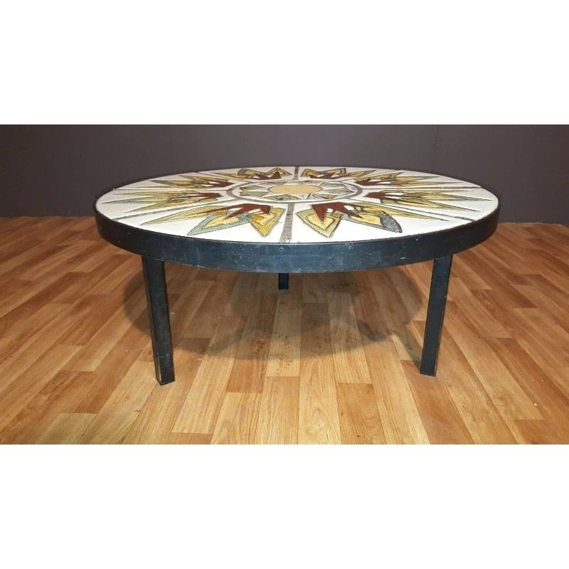 Ceramic Coffee Table Abstract Expressionist Ceramic Coffee Table Mid With Expressionist Coffee Tables (Image 14 of 40)
