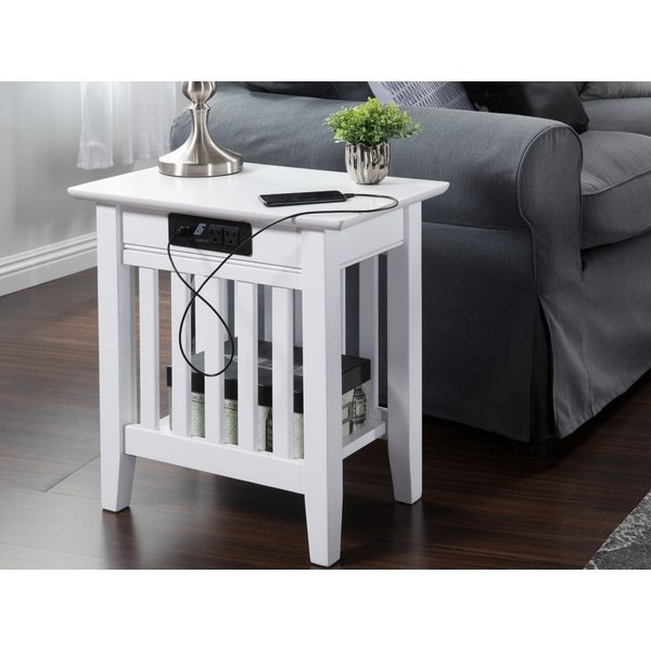 Charging Station End Table | Wayfair Pertaining To Laurent Lift Top Cocktail Tables (View 37 of 40)