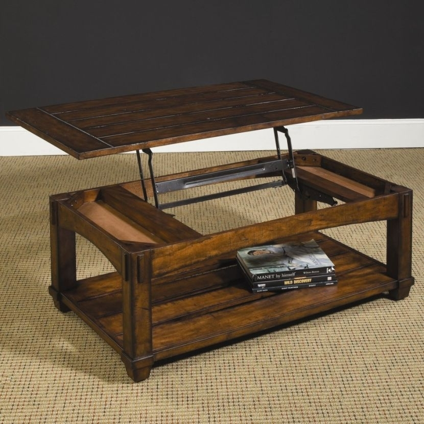 Charming Rustic Lift Top Coffee Table In Tillman Rectangle Lift Top Cocktail Tables (Image 17 of 40)