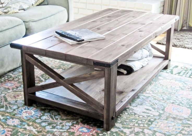 Cheap Modern Rustic Coffee Table (Image 5 of 40)
