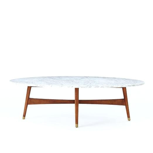 Cheerful Mid Century White Coffee Table B4671366 Furniture Of I Mid Pertaining To 2 Tone Grey And White Marble Coffee Tables (View 26 of 40)
