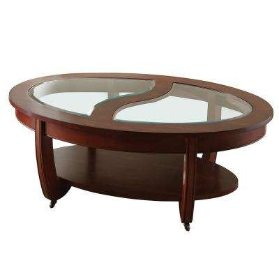 Cherry – Coffee Tables – Accent Tables – The Home Depot For Ontario Cocktail Tables With Casters (Image 6 of 40)