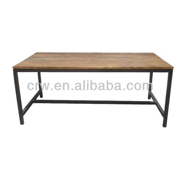 China Dt 4021 Reclaimed Elm Industrial Style Dining Table – China Pertaining To Reclaimed Elm Iron Coffee Tables (View 36 of 40)