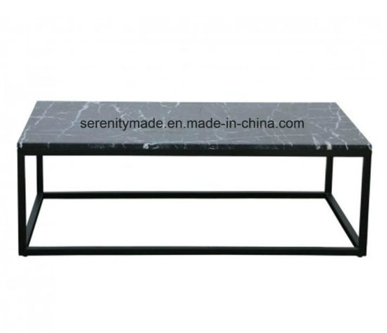 China Modern Cafe Restaurant Steel Legs Natural/artificial Rectangle Inside Modern Marble Iron Coffee Tables (Image 5 of 40)