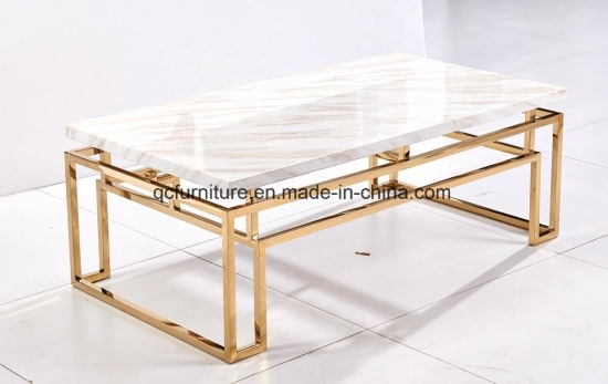 China Modern Home Furniture Stone Center Table Set – China Coffee With Modern Marble Iron Coffee Tables (Image 6 of 40)