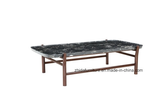 China Modern Rectangle Black Marble Top Coffee Table – China Living Inside Modern Marble Iron Coffee Tables (Image 7 of 40)