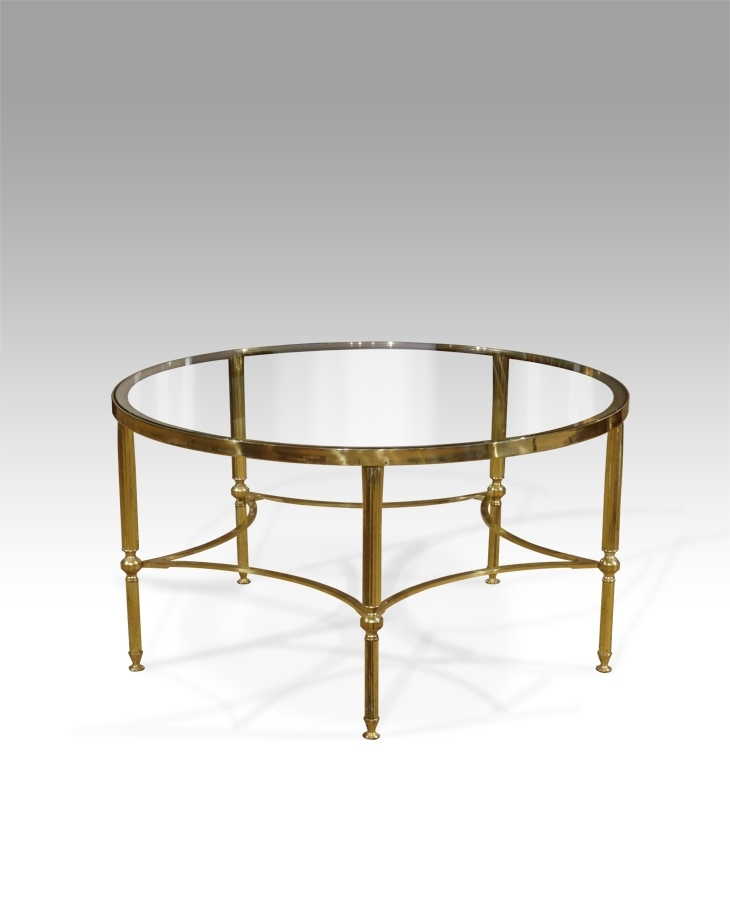 Circular Glass Coffee Table, Round Glass Coffee Table, Round Antique For Antique Brass Coffee Tables (View 16 of 40)