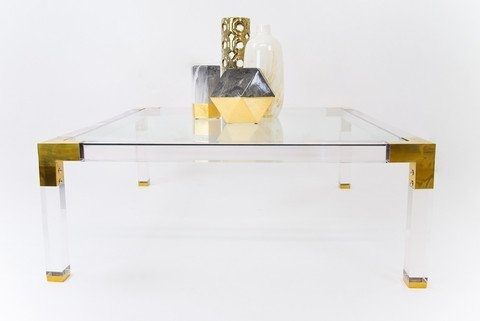 Clark Lucite Coffee Table | Wayfair Intended For Stately Acrylic Coffee Tables (View 10 of 40)