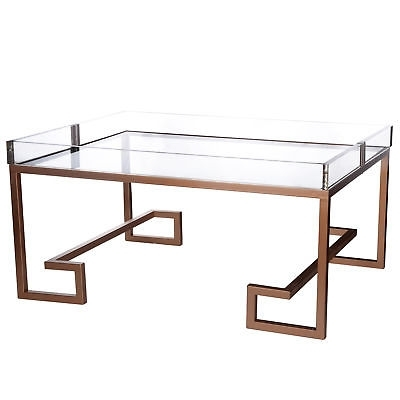 Clear Acrylic/metal Coffee Table – $ (View 14 of 40)