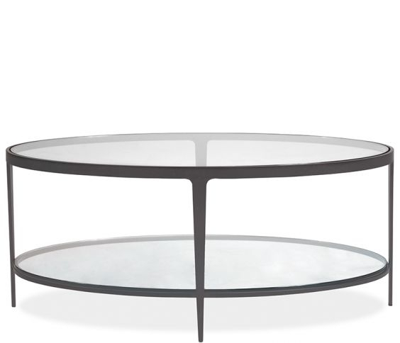 Clooney Oval Coffee Table – Gunmetal Within Gunmetal Coffee Tables (Photo 4 of 40)