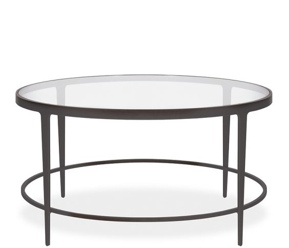 Clooney Round Coffee Table – Gunmetal With Gunmetal Coffee Tables (View 2 of 40)