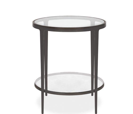 Clooney Round Side Table – Gunmetal For Gunmetal Coffee Tables (Image 8 of 40)