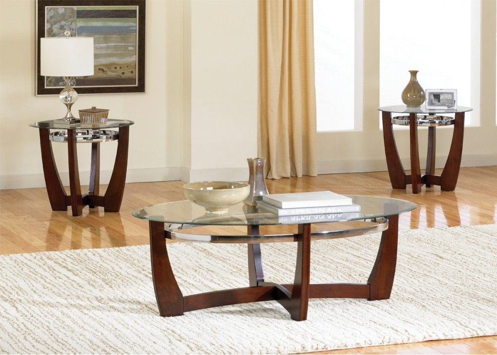Cocktail Table & 2 End Tables – T450 | T450 3 | Three Pack Table Pertaining To Felicity Cocktail Tables (Image 8 of 40)