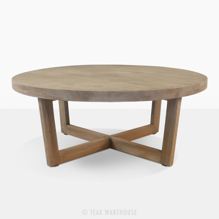 Coco Teak Outdoor Coffee Table | Patio Furniture | Teak Warehouse With Round Teak Coffee Tables (Image 4 of 40)