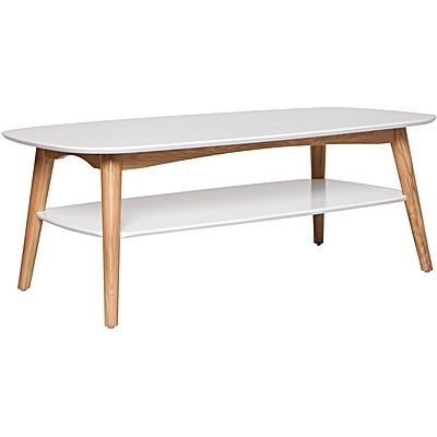 Coffee & Side Tables | Side Table | Glass Coffee Table For White Wash 2 Drawer/1 Door Coffee Tables (Image 12 of 40)