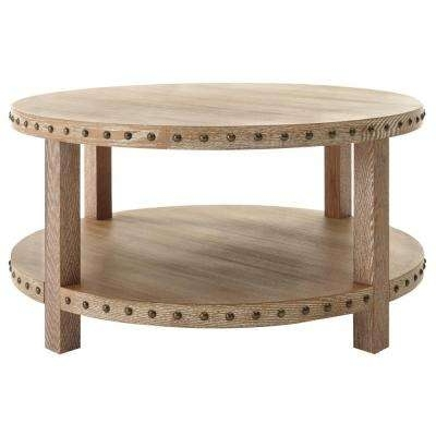 Coffee Table – Accent Tables – Living Room Furniture – The Home Depot Throughout White Wash 2 Drawer/1 Door Coffee Tables (Image 20 of 40)