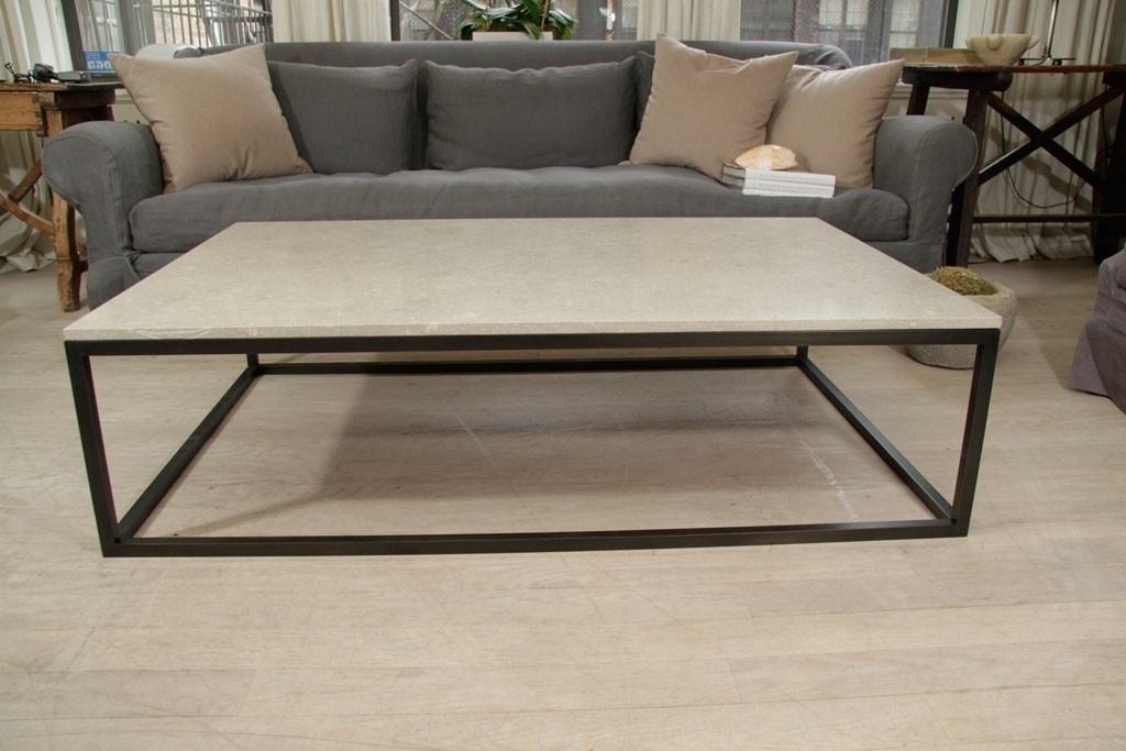Coffee Table Astonishing Stone Top Coffee Table Square Stone Top For Stone Top Coffee Tables (Image 7 of 40)