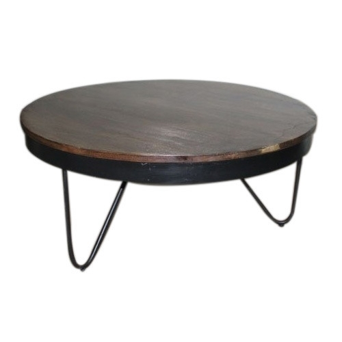 Coffee Table – Cart Coffee Table Manufacturer From Jodhpur Within Iron Wood Coffee Tables With Wheels (View 13 of 40)