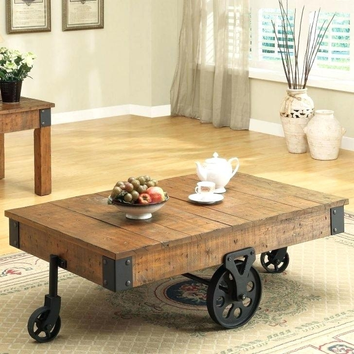 Coffee Table Cart With Wheels With Ontario Cocktail Tables With Casters (Image 9 of 40)