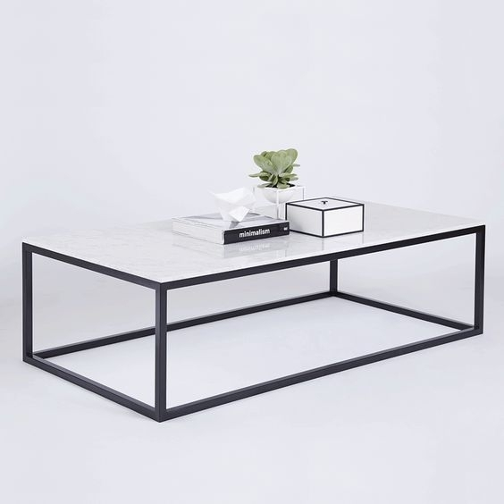 Coffee Table: Charming Rectangular Marble Coffee Table Style Ideas Within Iron Marble Coffee Tables (Image 7 of 40)