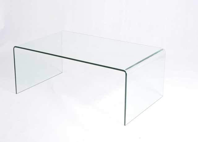 Coffee Table: Fitting Furniture Waterfall Glass Coffee Table Inside Square Waterfall Coffee Tables (Image 8 of 40)