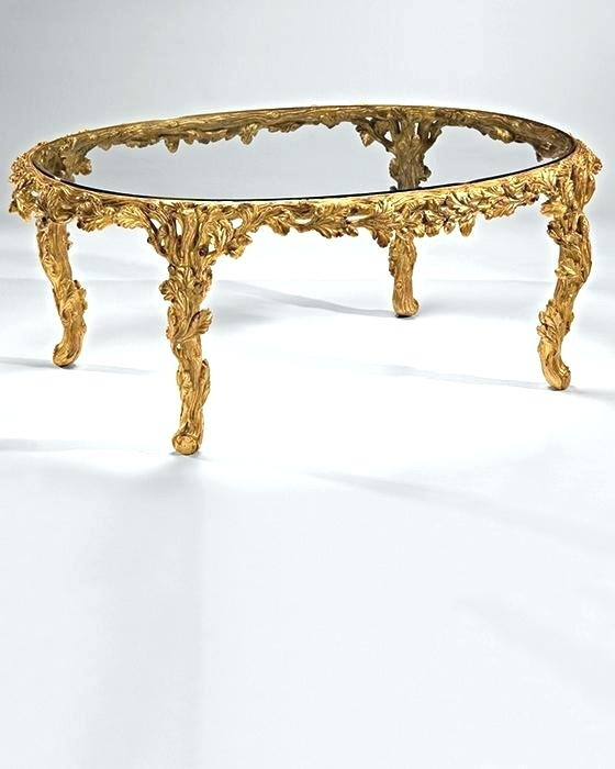 Coffee Table Gold Coffee Table Gold Nice Gold Leaf Coffee Table Inside Gold Leaf Collection Coffee Tables (Image 6 of 40)