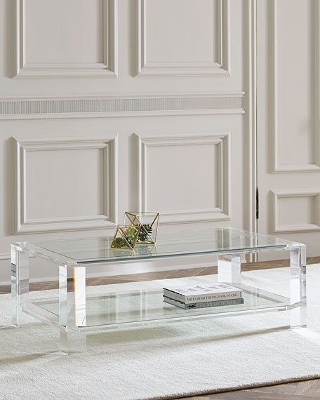 Coffee Table | Horchow Within Acrylic & Brushed Brass Coffee Tables (Image 15 of 40)