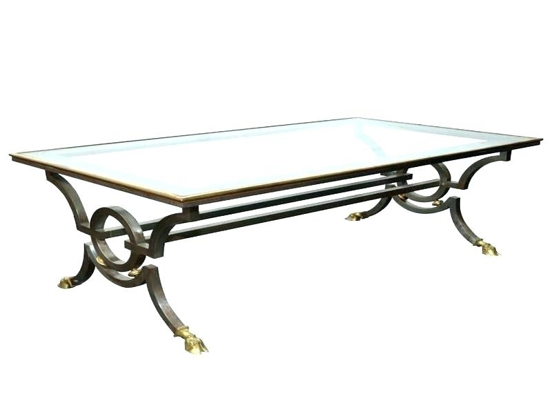 Coffee Table Iron Tanner Round Coffee Table Matte Iron Bronze Finish With Proton Cocktail Tables (Image 11 of 40)