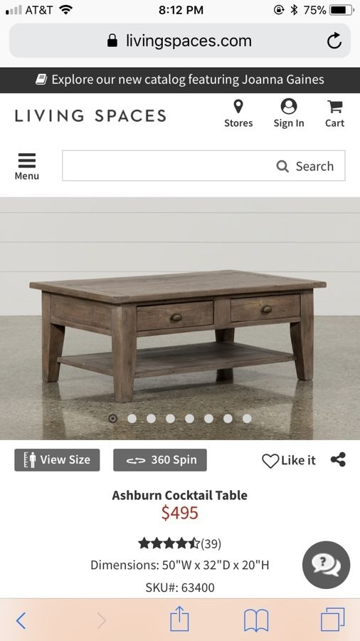Coffee Table (Living Spaces) For Sale In Carlsbad, Ca – Offerup Pertaining To Ashburn Cocktail Tables (Image 16 of 40)