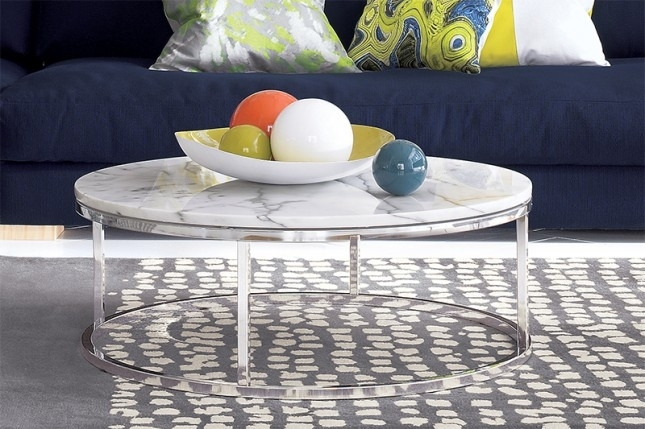 Coffee Table: Marble Top Round Coffee Table Sets Faux Marble Top For Smart Round Marble Brass Coffee Tables (Image 10 of 40)