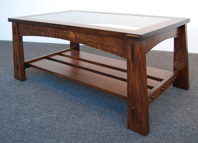 Coffee Table: Mission Style Coffee Tables Mission Style Coffee Table With Craftsman Cocktail Tables (Image 8 of 40)