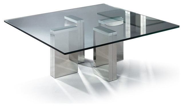 Coffee Table: Modern Glass Coffee Table Designs Ideas Round Glass Regarding Square Waterfall Coffee Tables (Image 9 of 40)
