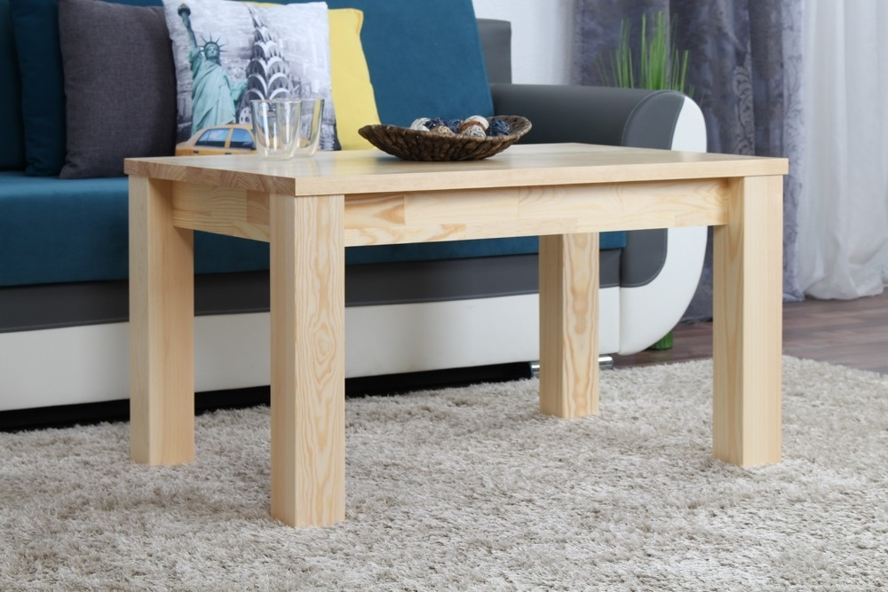 Coffee Table Solid, Natural Pine Wood Junco 484 – Dimensions 50 X 90 With Natural Pine Coffee Tables (Photo 6 of 40)