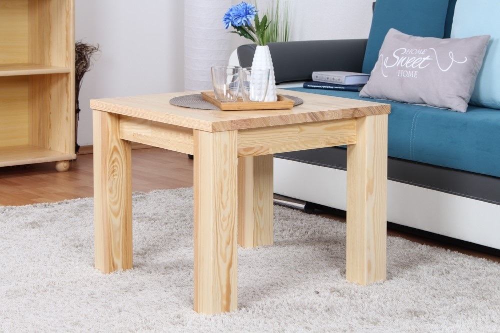 Coffee Table Solid, Natural Pine Wood Junco 485 – Dimensions 50 X 60 With Regard To Natural Pine Coffee Tables (Image 9 of 40)