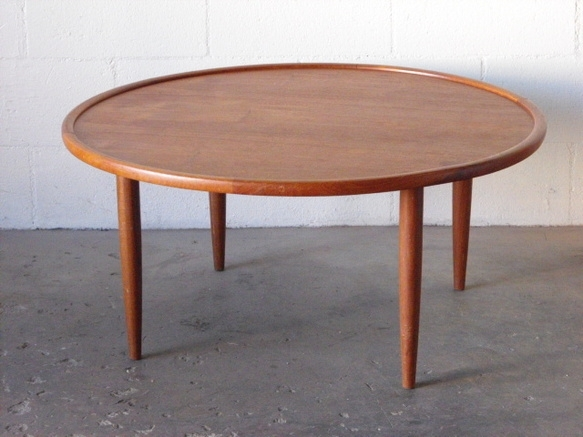 Coffee Table: Solid Round Teak Coffee Table Furniture Teak And Glass In Round Teak Coffee Tables (Image 5 of 40)