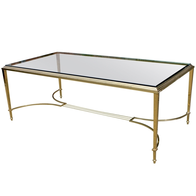 Coffee Table: Stainless Steel Brass Glass Coffee Tables Glass Top Inside Antique Brass Coffee Tables (View 12 of 40)