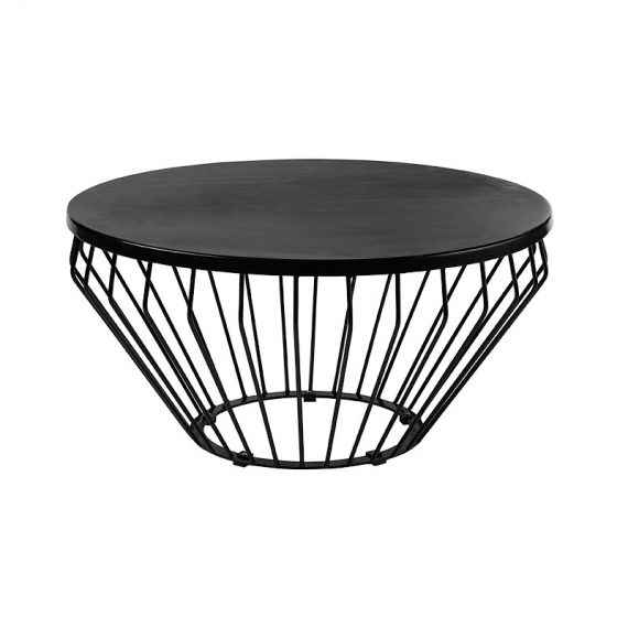 Coffee Table – Wire Worx Black – Hire Society Pertaining To Black Wire Coffee Tables (View 4 of 40)
