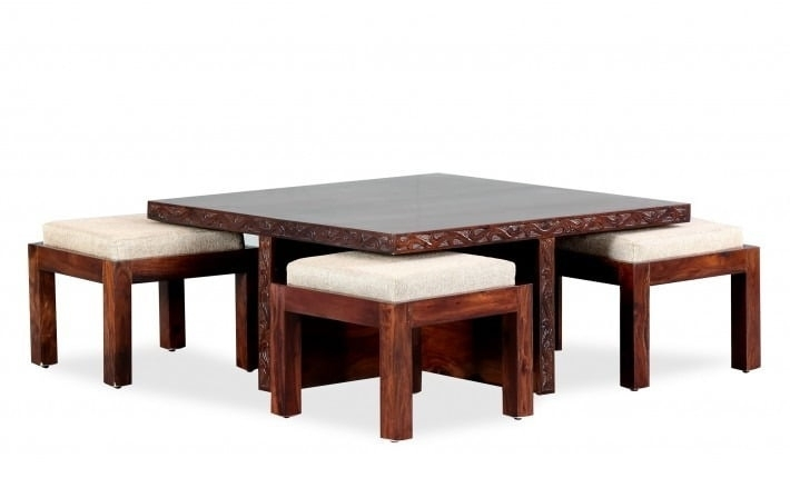 Coffee Tables: Buy Wooden Center Table Online In India – Furnspace Regarding Mill Large Leather Coffee Tables (View 37 of 40)