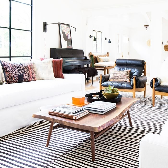 Coffee Tables For Sectionals | Mydomaine Pertaining To Slab Large Marble Coffee Tables With Brass Base (View 16 of 40)