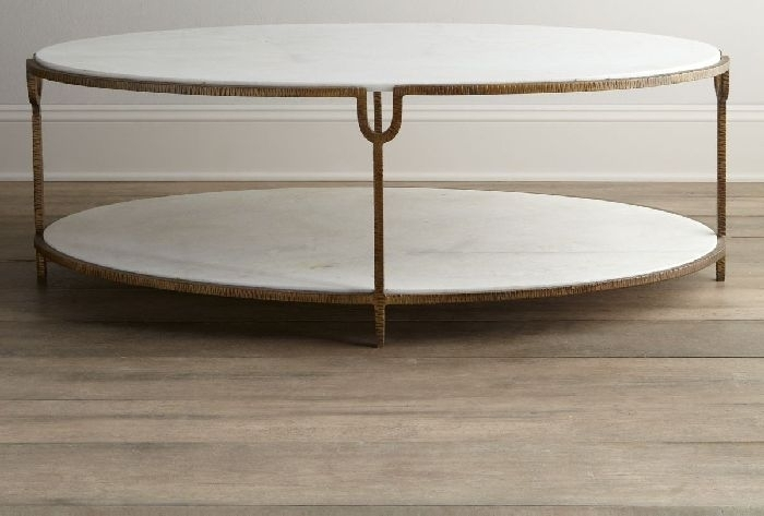 Coffee Tables — Mi Casa Toronto In Round White Wash Brass Painted Coffee Tables (View 31 of 40)