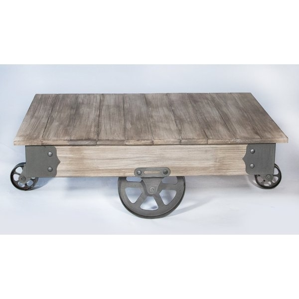 Coffee Tables With Wheels | Wayfair Pertaining To Natural Wheel Coffee Tables (Image 11 of 40)