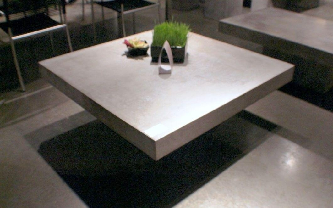 Concrete Coffee Table Crate And Barrel — The New Way Home Decor Regarding Element Ivory Rectangular Coffee Tables (Image 7 of 40)
