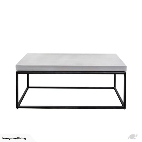 Concrete White/gunmetal Base Coffee Table | Trade Me Within Gunmetal Coffee Tables (Image 11 of 40)