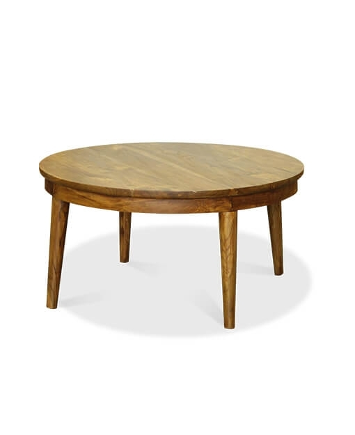Conor Teak Round Coffee Table With Regard To Live Edge Teak Coffee Tables (View 6 of 40)