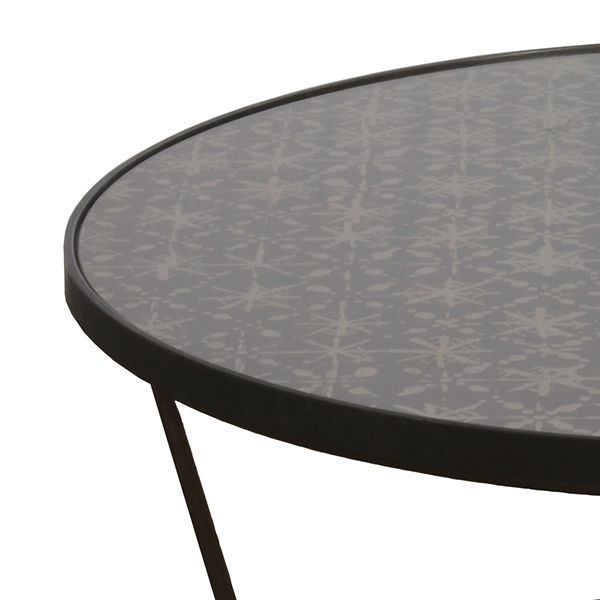 Contemporary Coffee Table / Glass / Metal / Round – Batik : 20743 Inside Batik Coffee Tables (View 4 of 40)