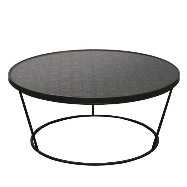 Contemporary Coffee Table / Glass / Metal / Round – Batik : 20743 Pertaining To Batik Coffee Tables (View 15 of 40)